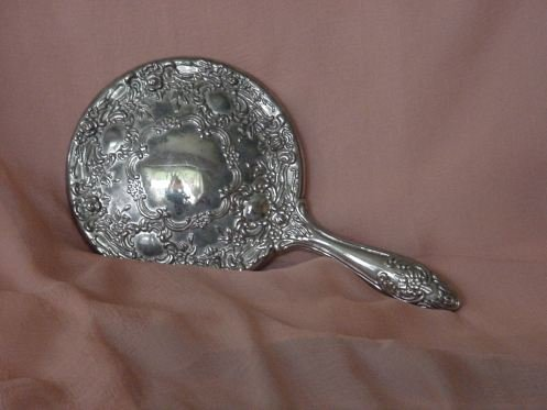 Rhodium Plated Mirror Decorated mirror