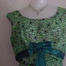 1950s 1960 Sublime Green flocked vintage prom dress formal dress party dress  No. 2
