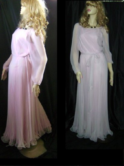 Miss Elliette vintage Pink pleated Sophisticated Sassy Formal Evening gown Party Dress  48