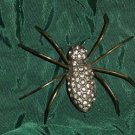 Vintage rhinestone spider Arachnid Needs work 51