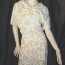 Vintage peach, White, and green Day Dress Casual Dress   45
