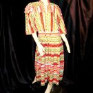 Diane Freis Original 1980s Vibrant BoHo Dress Artsy Dress Southwest Print Abstract   39