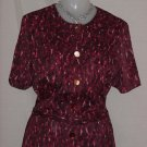 Red  Vintage Jersey Day dress 1950s 1960 Bust 38  No. 79