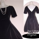 Vintage Dress Black with  Bubble Hem An Original by Sue Cotten