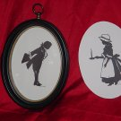 Silhouette Boy  and Girl Silhouettes Vintage silhouettes
