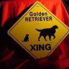 Golden Retriever Metal Crossing Sign  #72