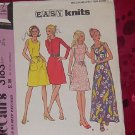 McCall's Pattern 3183 vintage womens dress Easy Knits 1972 two length Misses Size 8 B 31 1/2  No. 32