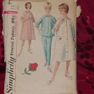 Simplicity Pattern 5205 Sz 18 Bust 38 Housecoat Robe Top and Pants Pajamas  No. 32