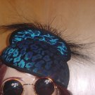 Teal blue and black Women's hat  38