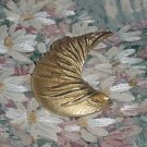BSK Pin Vintage Crescent Goldtone Brooch Costume Jewelry  #55
