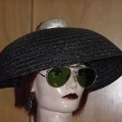 Vintage Asian Straw Coolie hat with Braid