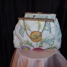 White Cloth Purse Handbag Stitched design Bag  42