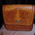 Carmel Leather Tooled Purse Handbag