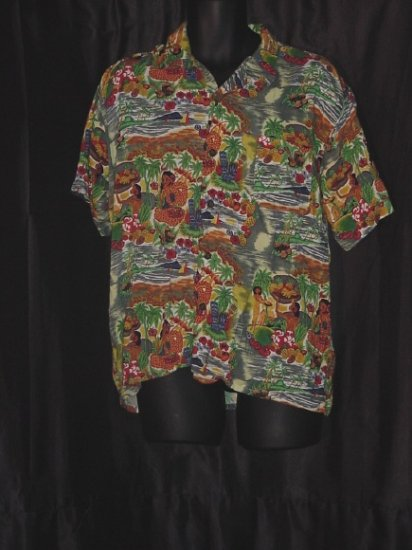 Mens Hawaiian Print Shirt C-Mrk Inc  47