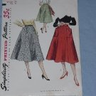 Simplicity Sewing Pattern 4083  Skirt 40s 50s Vintage gore skirt Waist 28  - 49
