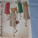 Simplicity Pattern 1731  Slender Vintage Skirt 40s 50s 60s gore skirt Waist 28  49