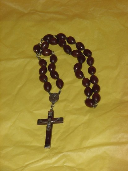 Rosary Dark Brown Wooden beads  54