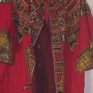 Dashiki Shirt Red yellow brown hippie 60s 70s look  #196