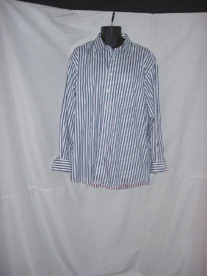 Shirt stripe Red white blue JoS Bank mens shirt  #58
