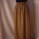 Flowered Skirt or strapless dress elastic waist 1960s Vintage  #59