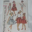 Simplicity Girls 1965 Dress top shorts Pattern 5993 #59