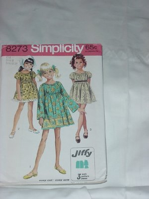 Simplicity Girls dress Jiffy Pattern 8273  #59