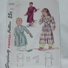 Simplicity Child's Robe Slippers Pattern Vintage Size 2  2544  #59