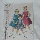 Simplicity Girls Jumper dress Blouse Pattern 5091  #59