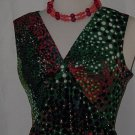 Multi colored polka dot maxi dress sheath dress floor length  # 59