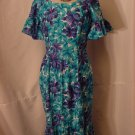 Blue Turquoise Hawaiian Maxi Dress lounge wear beach wear #62