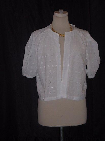 White eyelet jacket short sleeves  #63