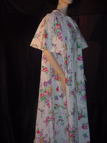 4cd219677ef Colorful robe rose covered robe beach cover Loungewear David Brown for  Dillards Large  65