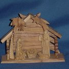 Nativity Wooden Manger tableau Creche Holy Land #66