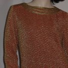 Womens dress Burnt orange Gold Vintage ladies dress Allison gowns Redington Beach Florida#  71