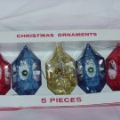 Christmas tree ornaments 5 plastic bird cage ornaments Jewelbrite poinsettias #72