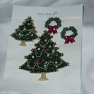 Christmas tree appliques Anne's Accents Removable appliques #72