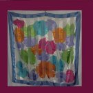 Scarf Colorful Floral Polyester Scarf City Silk Large scarf  # 28