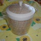 Ice Bucket Mid Century Plastic Raffia straw mat 1950s 1960s. no. 16
