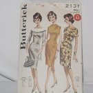 1950s Sheath Butterick sewing pattern 2137 Size 12 dress Bust 32   No. 193