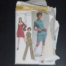 Sewing Pattern dress tunic mini-skirt pants 8912 Simplicity Miss Size 12 Bust 34 No. 88