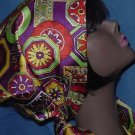 Scarf Vintage Geometric design Colorful Scarf  No. 80