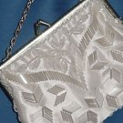 Ivory Beaded vintage Evening bag purse Handmade Hong Kong  No. 13
