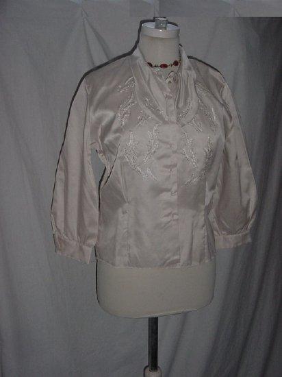 Judy Bond Vintage blouse tan size 36 No. 45
