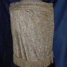 Gold Triangular Scarf Stole Wrap No. 81