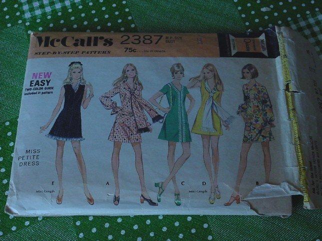 McCall's Dress Pattern 1970 Step by Step 2387 Miss Petite Dress No. 5