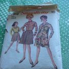 McCall's 7313 Misses 1967 Blouse and pantskirt Pattern Size 12 Bust 32 1968  No. 5