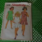 Simplicity 6418 Size 10 Bust 28 girls one-piece dress No.5