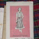 4979 Printed Pattern size 16 1/2 Blouse Skirt  No. 30
