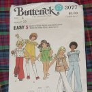 3077 Simplicity Girls Sewing Pattern Girls Size 6 Breast 25  No. 30