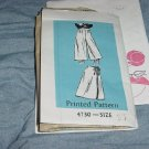 Culotte 4730 printed pattern Waist 35 1983 Wrap around Skirt No. 30